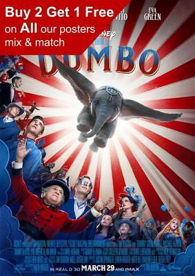 Dumbo 2019 Movie Poster A5 A4 A3 A2 A1