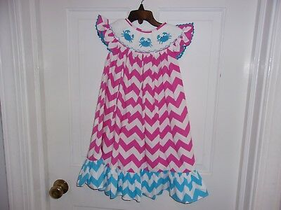 555427210b8 Boutique brand Ruffle Girl smocked bishop dress 2T NWT!! Spring Summer