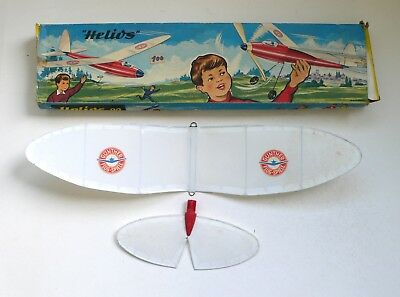 Gunther Segelflugmodel HELIOS 22 Glider Model Flying Toy Boxed OVP 1950's BOX