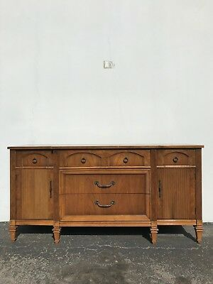 Antique Buffet Cabinet Tv Regency Sideboard Hutch Wood Console French Provincial