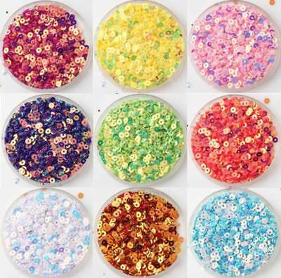 (10000pcs) 3mm flat Round PVC Loose Sequins Paillette Sewing Craft For Wedding