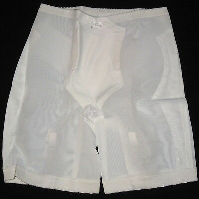 NICE Vintage Sears Shapewear Long Leg Panty Girdle Large w/Garters Made in USA