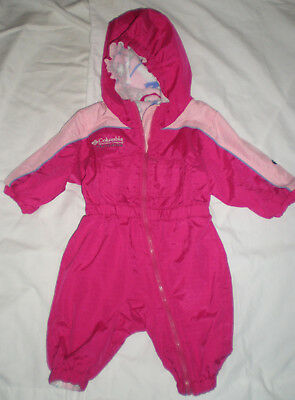 ec9a55695 COLUMBIA GIRLS PINK BABY INFANT SNOWSUIT SIZE 12 MONTHS 1-Piece ...