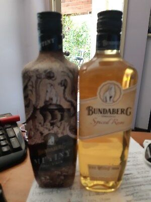 bundaberg rum mutiny spiced rum 700ml and old label spiced (deleted products)