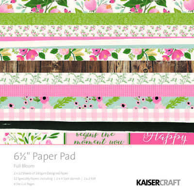 NEW Kaisercraft Kaiser Full Bloom Paper Pad By Spotlight
