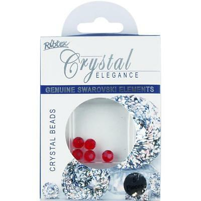 NEW Swarovski Faceted Round Beads 5 Pack By Spotlight