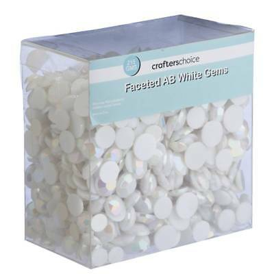 NEW Crafters Choice Faceted White Gems By Spotlight