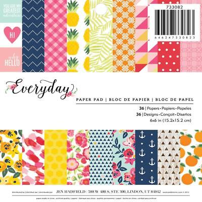 NEW American Crafts Pebbles Everyday Paper Pad 36 Page By Spotlight