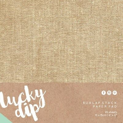 NEW Kaisercraft Lucky Dip Burlap Pad 20 Sheets By Spotlight