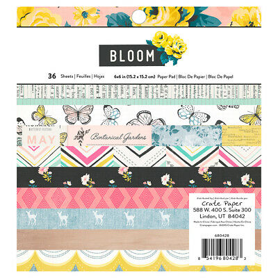 NEW American Crafts Crate Paper Maggie Holmes Bloom Paper Pad 36 Sheets By Spotl