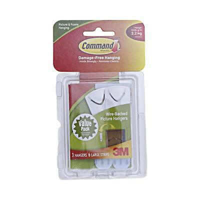 NEW 3M Command Wire-Backed Picture Hangers 3 Pack By Spotlight