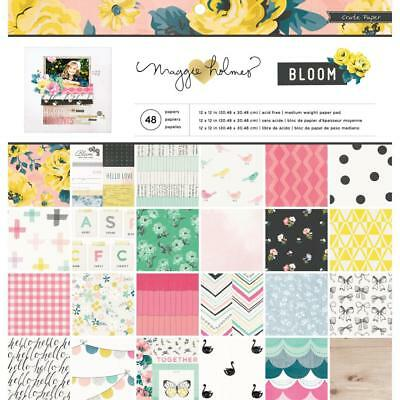 NEW American Crafts Crate Paper Maggie Holmes Bloom Paper Pad 48 Sheets By Spotl