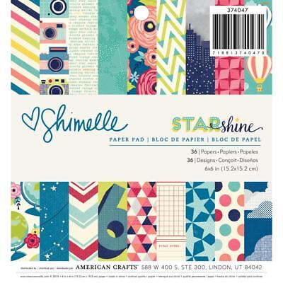 NEW American Crafts Shimelle Star Shine Paper Pad 36 Sheets By Spotlight