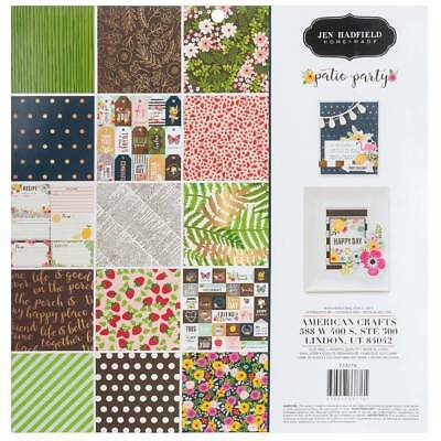 NEW American Crafts Jen Hadfield Patio Party 12 Inch Paper Pad By Spotlight