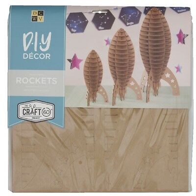 NEW Die Cuts With A View 3D Large Rocket Flute Kraft Paper Pads By Spotlight