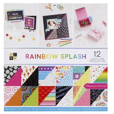 NEW Die Cuts With A View Rainbow Splash Paper Pad By Spotlight