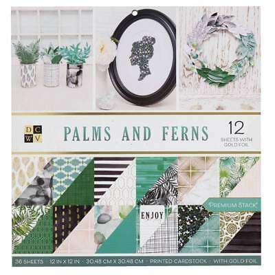 NEW Die Cuts With A View Palms & Ferns Paper Pad By Spotlight