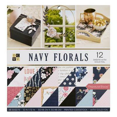 NEW Die Cuts With A View Navy Floral Paper Pad By Spotlight