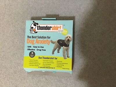 Thundershirt Dog Anxiety Calming Pressure Jacket Size S Solid Gray New (#BxH-L)