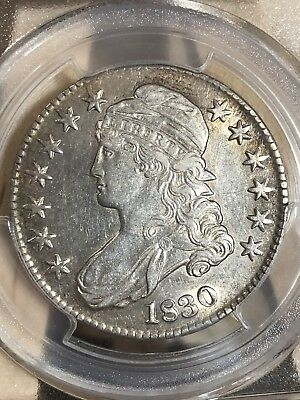 1830 US Capped Bust Lettered Edge Half Dollar (50c) Small 0 PCGS AU50