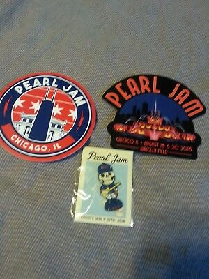 Pearl Jam Wrigley Field 2018 Sticker Set & Pin Away Shows Fountain Free CAN ship