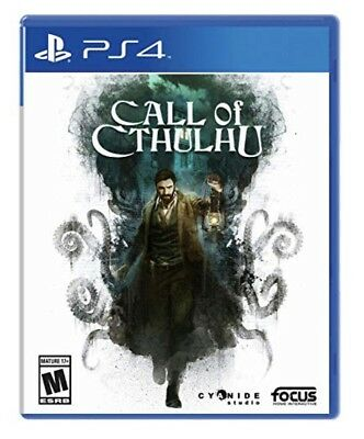 Call of Cthulhu PlayStation 4 PS4 Disc NEW FACTORY SEALED GENUINE AUTHENTIC US
