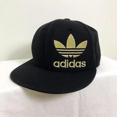 Adidas Originals Mens Big Logo Fitted Stretch fit Baseball Cap Hat Size M