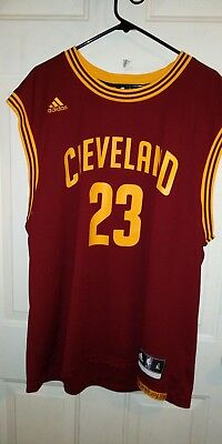 NEW W  TAGS LEBRON JAMES Adidas Authentic Away Jersey Men XL CAVALIERS  LAKERS ! c23e46721
