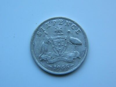 1946 KGV1  SIXPENCE, a nice circulated coin.
