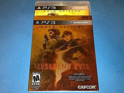 Resident Evil 5 Gold Edition PS3 Complete Sleeve & Manual - Sony PlayStation 3