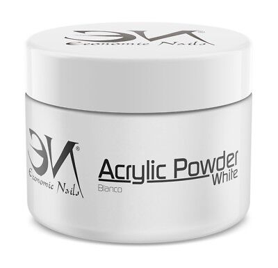 Polvo Acrilico French White (Blanco) 200g - Polvos Acrilicos de Economic Nails