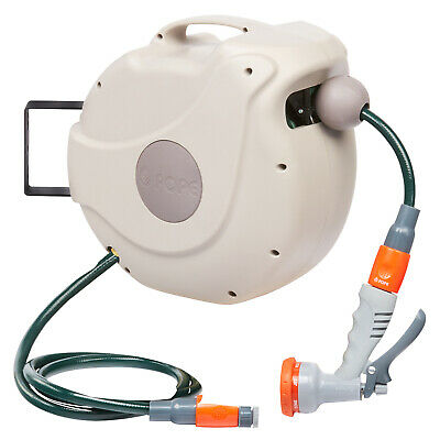 Pope 30 m Auto Wind Hose Reel Cover Prevents wasps and other insects UV protecte