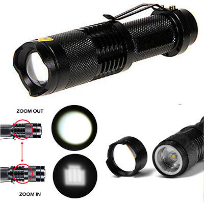 Tactical 20000lm Zoomable LED Flashlight Torch Light T6 14500 5Modes Camp Lamp