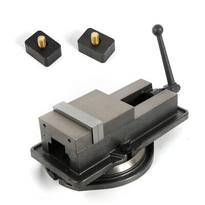 """Durable Industrial Tool 5"""" Milling Machine Lockdown Vise-Swiveling Base Movable"""
