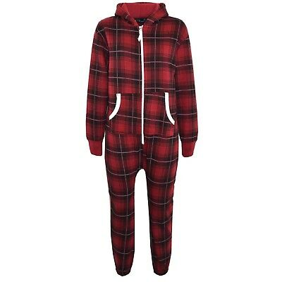Kids Girls Tartan Print A2Z Onesie One Piece All In One Jumpsuit Playsuit 5-13 Y