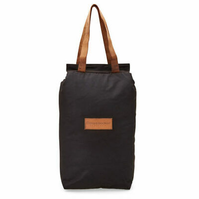 The Australian Cooler Bag - 2 Bottle Easy to carry with a tough leather handle