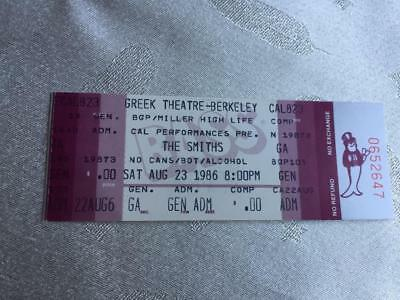 The Smiths ticket  Greek Theatre Berkerley 23/08/86 The Queen Is Dead tour