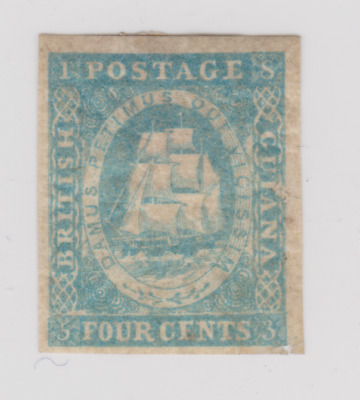 British Guiana 1853/55 Mint Mounted 4c Pale Blue ? SG ?
