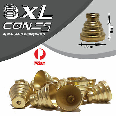 8 X Bonza Cone Pieces - Brass cone Piece - bong cones smoking pipe bong
