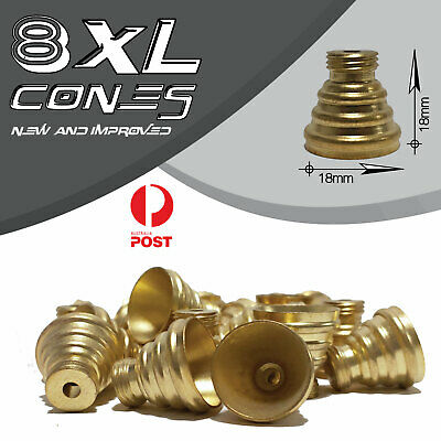 9 X Bonza Cone Pieces - Brass cone Piece - bong cones smoking pipe bong