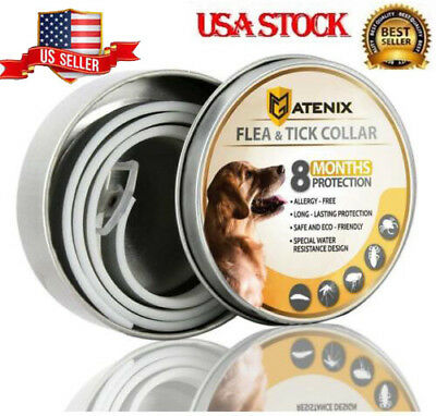 Atenix Flea and Tick Collar for Small Medium Large Dog Pet 8 Month Protection US