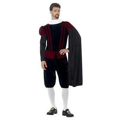 Tudor Lord Costume Kit Fancy Dress Carnival Retro Outfit Play Wear Set
