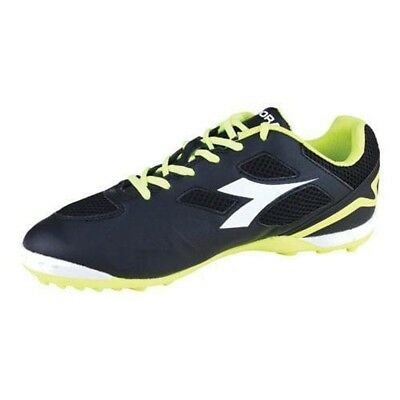 7e1c10d53 Diadora Quinto V TF Mens Soccer Turf Cleats Size 8.5 Black White Yellow -