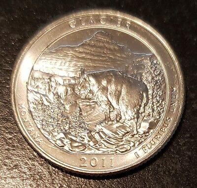 2011-D Glacier NP America the Beautiful Quarter - From Mint Roll! (8159)