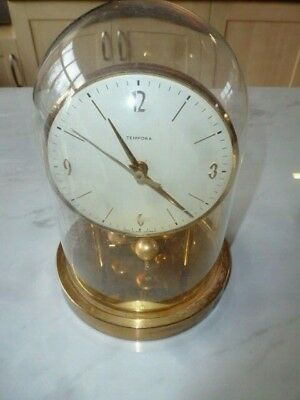 TEMPORA  - MADE IN WEST GERMANY - Anniversary Clock With Glass Dome