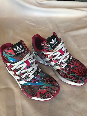 promo code 07293 ff10a Adidas ZX Flux Torsion Rainbow Athletic Walking Shoes 675001 Womens US 5