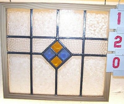 old leaded antique English stained glass window