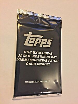 2018 Topps Update Series Baseball Jackie Robinson Day Factory Sealed Pack