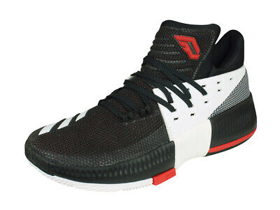 a55fee0c2629 adidas D Lillard 3 Mens Basketball Sneakers Mid-Top Court Shoes - Black