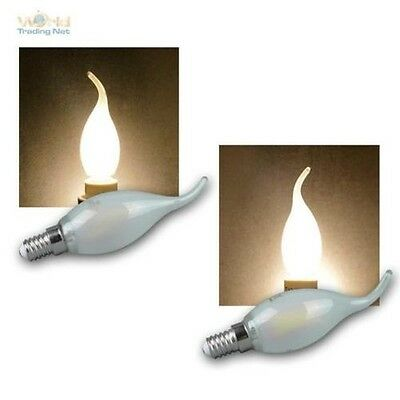 E14 Led Blast of Wind Candle Bulb 2W/4W, Warm White Lightbulbs Candle E-14